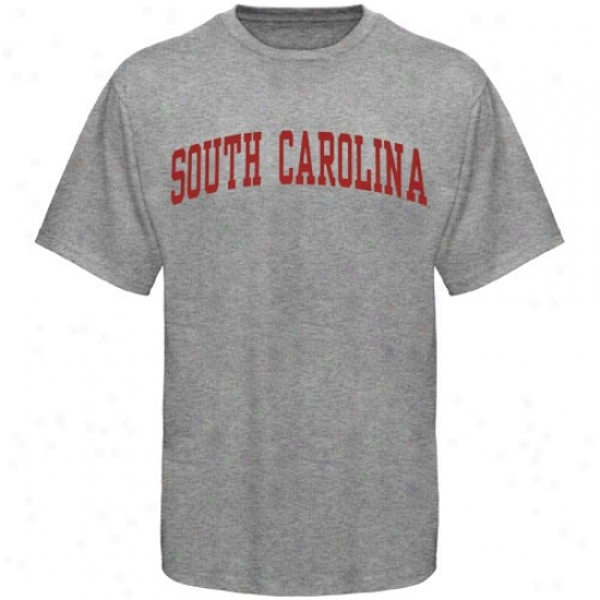 South Carolina Gamecocks Shirt : South Carolina Gamecocks Youth Ash Arched Shirt