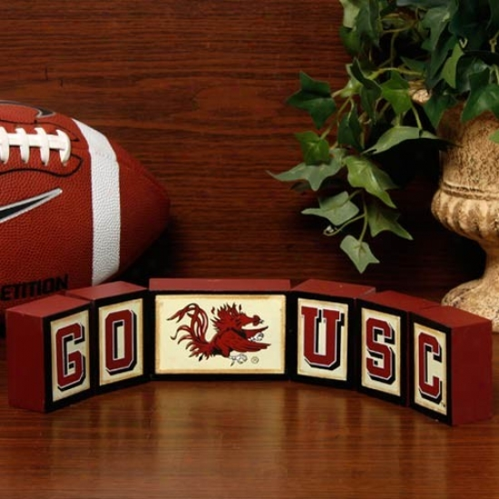 South Carolina Gamecocks Wooden Block Set