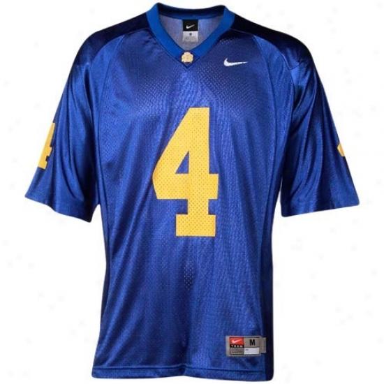 South Dakota State Jackrabbits Jerseys : Nike South Dakota State Jackrabbits #4 Autograph copy Football Jerseys - Royal Dismal