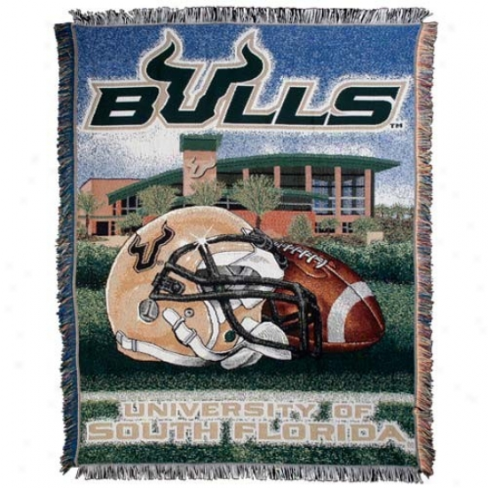 Southward Florida Bulls Acrylic Tapestry Home Field Advantage Throw Blanket