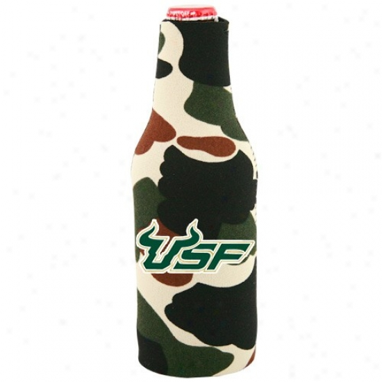 South Florida Bulls Camo 12 Oz. Bottle Coolie