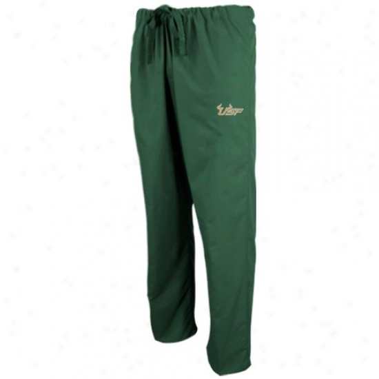 South Florida Bulls Green Scrub Pants