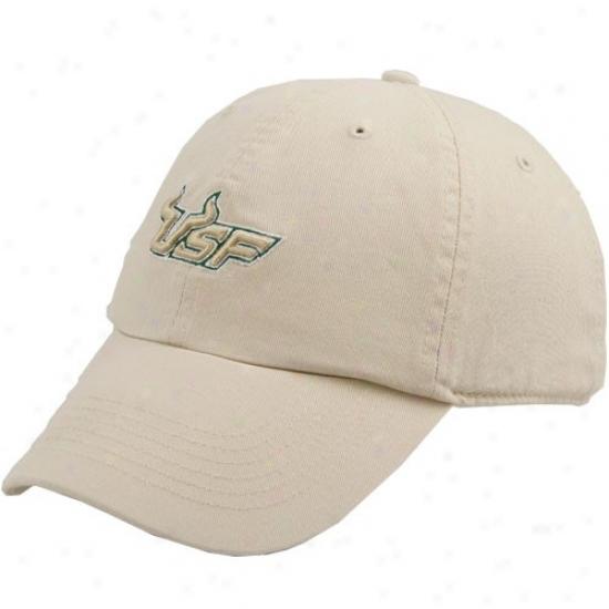 South Florida Bulls Hat : Twins Enterprise South Florida Bulls Natural Franchise Fittrd Hat