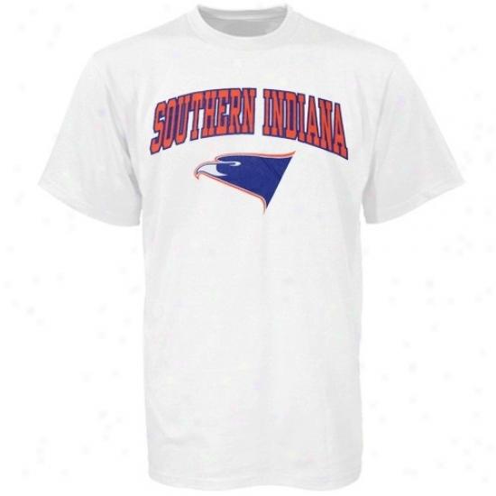 Southern Indiana Screaming Eagles T-shirt : Southern Indiana Screaming Eagles Youth White Simple Essentials T-shirt