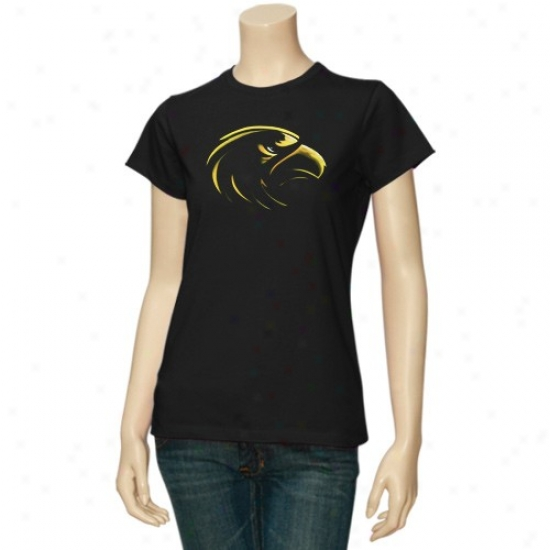 Southern Miss Golden Eagles Tshirt : Southern Miss Golden Eagles Ladies Black Blackout Tshirt