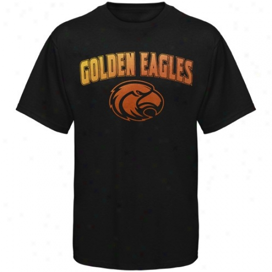 Southern Miss Golden Eagles Tshirt : Southern Miss Golden Eagles Blacl Universal Logo Tshirt