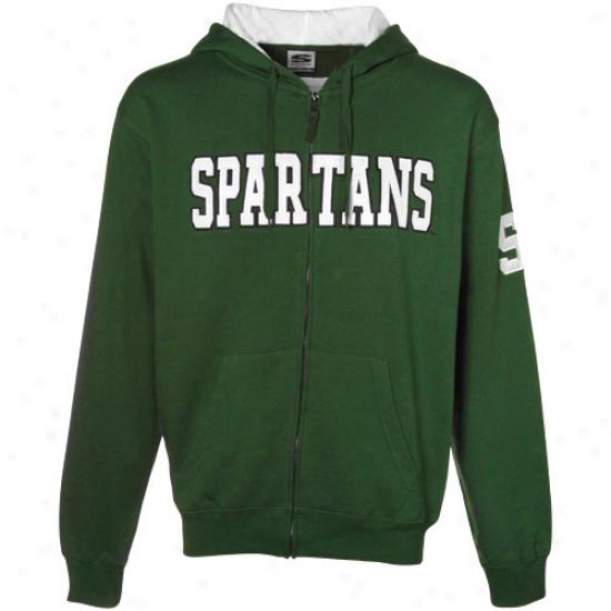 Spartan Hoodie : Spartan Green Classic Twill Full Zip Hoodie