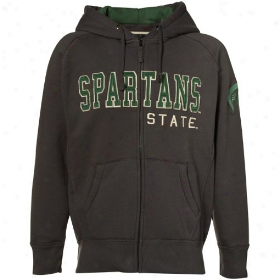 Spartan Hoodies : Spartan Charcoal Victory Full Zip Jacket