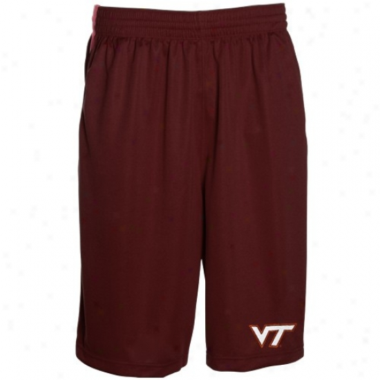 Sports Specialties At Nike Virginia Tech Hokies Maroon Classic Mesh Shorts