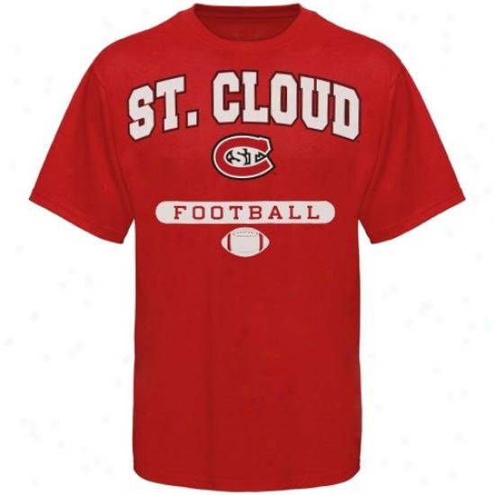 St. Cloud State Huskies Shirt : Russell St. Cloud Express  Huskies Red Football Shirt