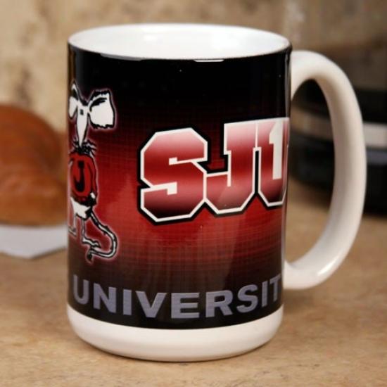 St. John's Red Attack 15 Oz. Team Logo Ceramic Mug