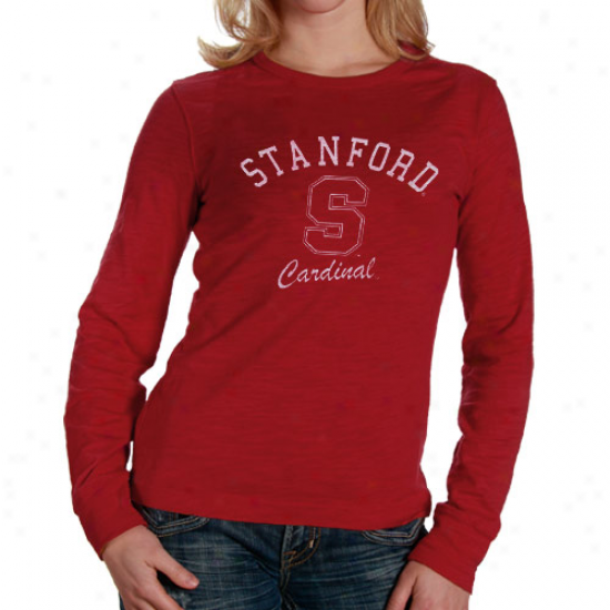 Stanford Cardinal Apparel: Stanford Cardinal Ladies Cardinal Gulf Long Sleeve Slub T-shirt