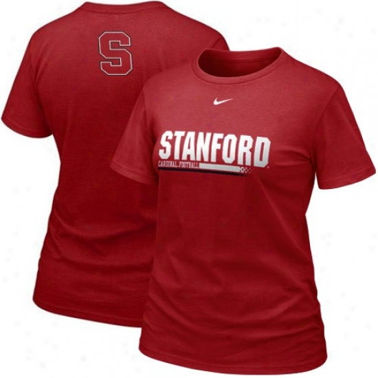 Stanford Cardinal Attire: Nike Stanford Cardinal Ladies Cardinal 2010 Practice T-shirt