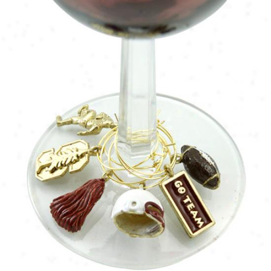 Stanford Cardinal Glassware Charm Set