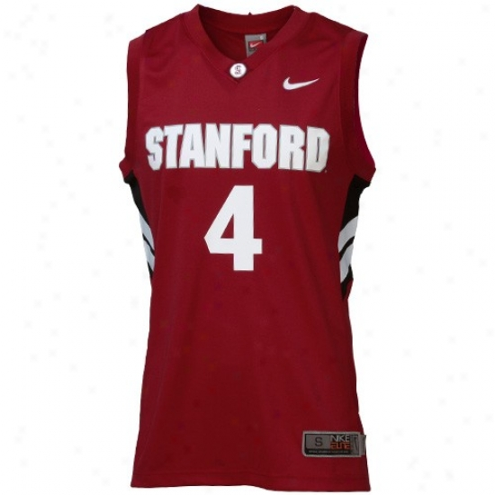 Stanford Cardinal Jersey : Nike Stanford Cardinal #4 Cardinal Replica Basketball Jersey