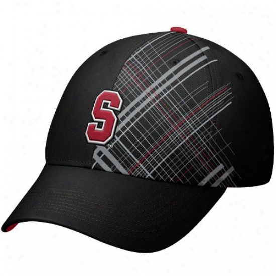 Stanford Cardinal Merchandise: Nike Stanford Careinal Black Legacy 91 Rad Plaid Swoosh Flex Fit Hat