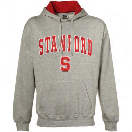 Stanford Cardinla Sweatshirt : Stanford Cardinak Gray Classic Twill