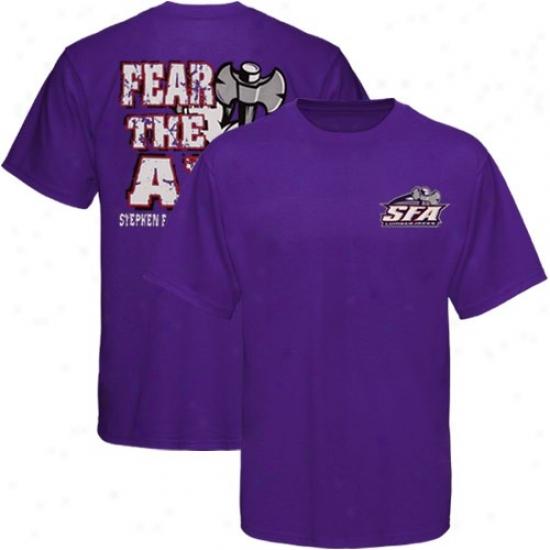 Stephen F Austin Lumberjacks Attire: Stephen F. Austin Lumberjacks Youth Purple Fear The Axe T-shirt