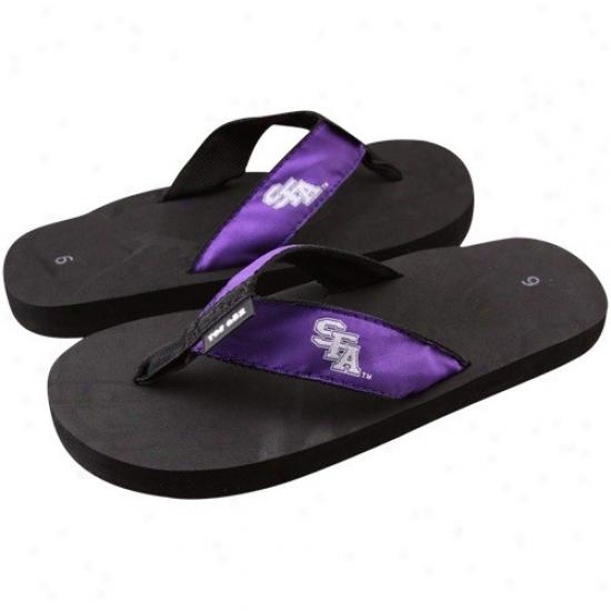 Stephen F. Austin Lumberjacks Black-purple Basic Flip Flop