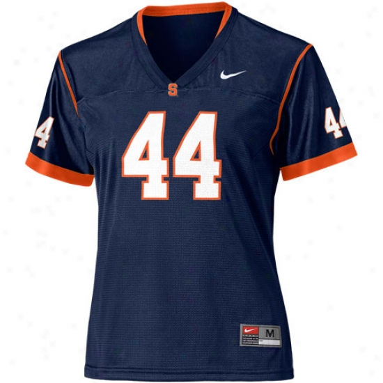 Syracuse Orange Jersey : Nike Syracuse Orange #44 Womens Replica Football Jersey - Navy Blue
