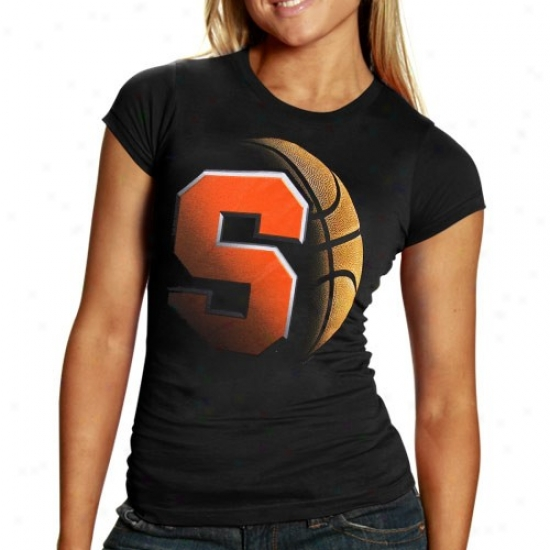 Syracuse Orange T Shirt : Syracuse Orange Ladies Black Blackout Basketball T Shirt