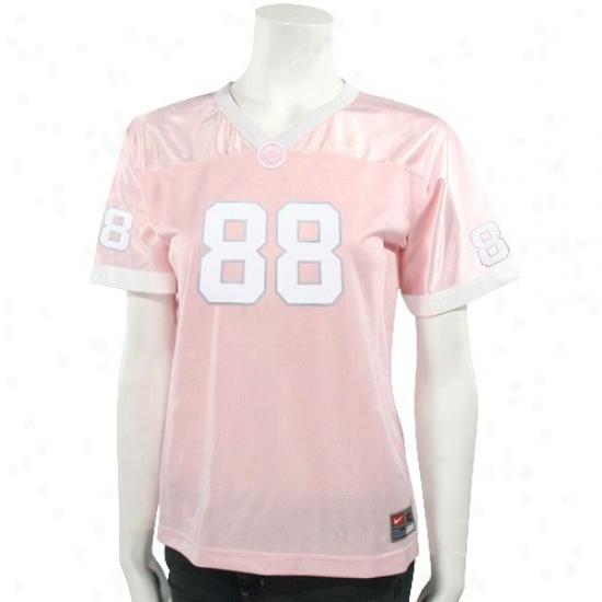 Tar Heel Jerseys : Nike Tar Heel (unc) #88 Pink Girls Replica Football Jerseys