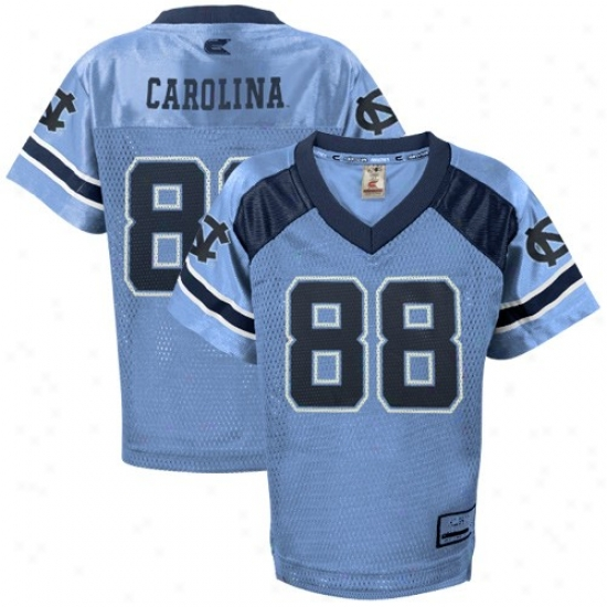 Tarheel Jersey : Tarheel (unc) #88 Preschool Carolina Blue Game Day Replica Football Jersey