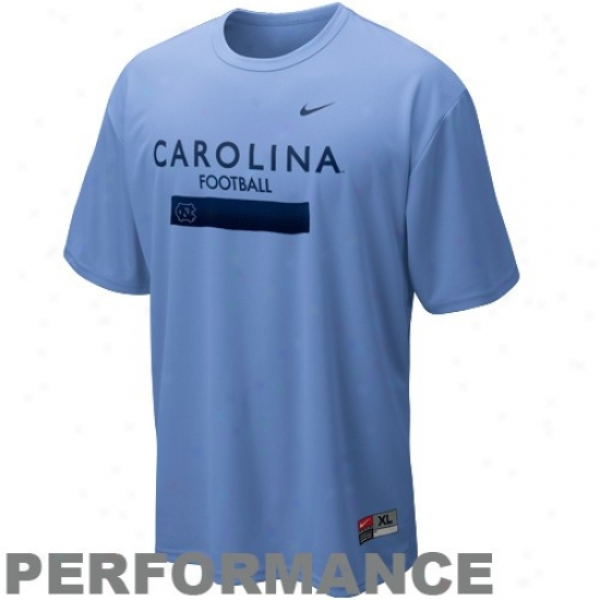 Tarheel Tshirts : Nike Tarheel (unc) Carolina Blue Dri-fit Weigjt Room Performance Tshirts