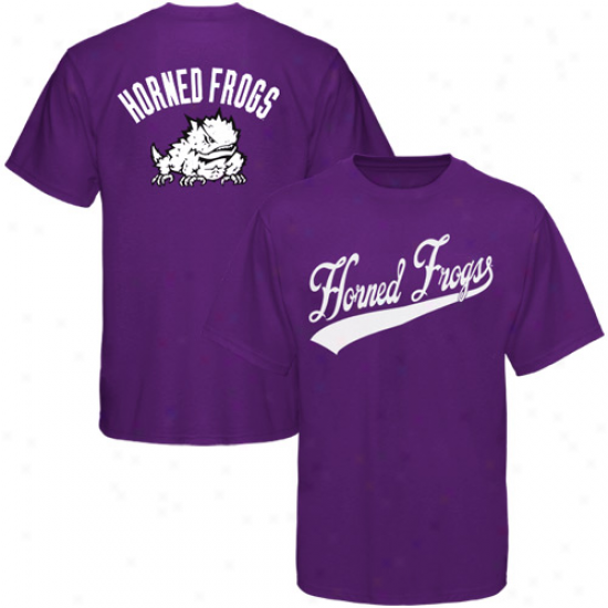 Tcu Horned Frogs Tshirt : Texas Christian Horned Frogs Purple Blender Tshirt