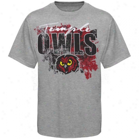 Temple Owls Apparel: Temple Owls Ash  T-shirt