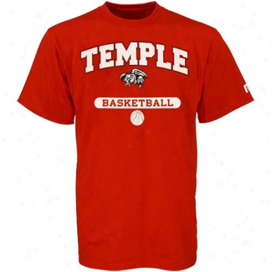 Temple Owls Tee : Russell Temple Owls Cherry Basketball Tee