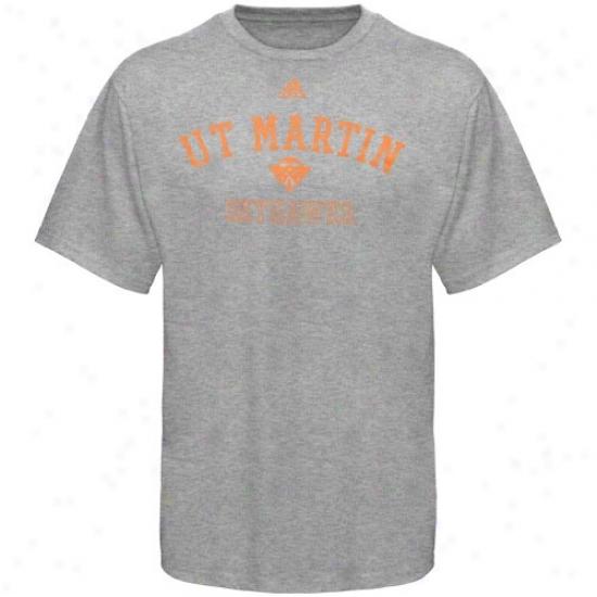 Tennessee Martin Skyhawks Attire: Adidas Tennessee Martin Skyhawks Ash Practice T-shirt