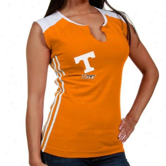 Tennessee Volunteers Apparel: Adidas Tennessee Volunteers Laidea Tennessee Orange Sunder Nefk T-shirt