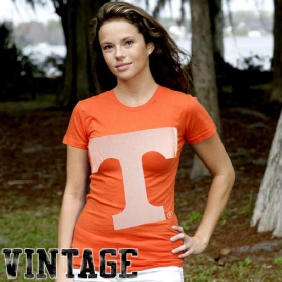 Tennessee Volunteers Attire: My U Tennessee Volunteers Ladies Tennessee Orange Gigantoor Vintag T-shirt