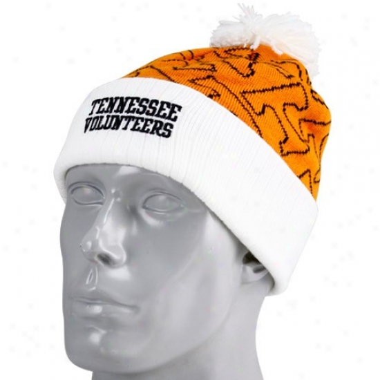 Tennessee Volunteers Gear: Adidas Tennessee Volunteers Youth Tennessee Orange-white Cuffdd Knit Beanie