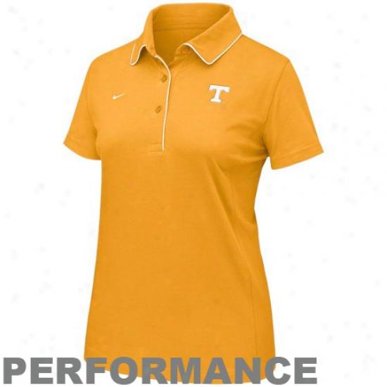 Tennessee Volunteers Golf Shirts : Nike Tennessee Volunteers Orange Ladies Dri-fit Classic Golf Sjirts
