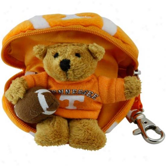Tennessee Volunteers Hidden Plush Bear Football Keychain