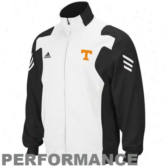 Tennessee Volunteers Jackets : Adidas Tennessee Volunteers Black-white Scorch Full Zip Performance Warm-up Jackets