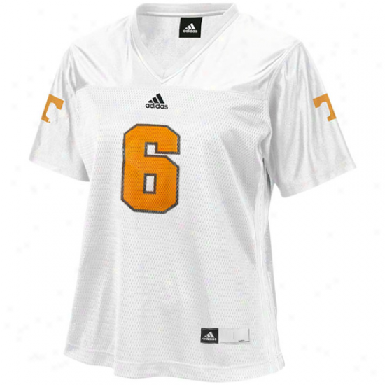 Tennessee Volunteers Jersey : Adidas Tennessee Volunteers Women's #6 Fashion Replica Football Jersey - White