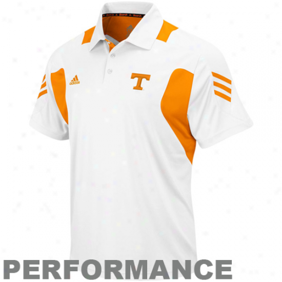 Tennessee Volunteers Polo : Acidas Tennessee Vokunteers White 2010 Scorch Coaches Performance Polo
