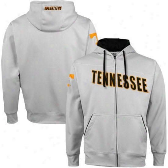 Tennessee Volunteers Sweatshirt : Tennessee Vlunteers Gray Pro-star Full Zip Sweatshirt