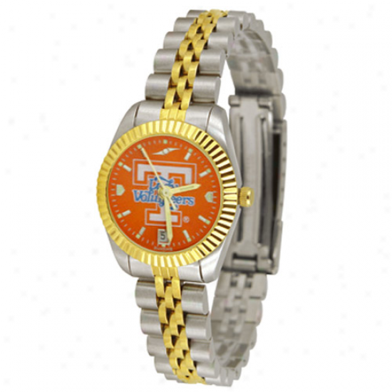 Tennessee Volunteers Watches : Tennessee Lady Vols Ladies Silvertone Executive Anochrome Watches