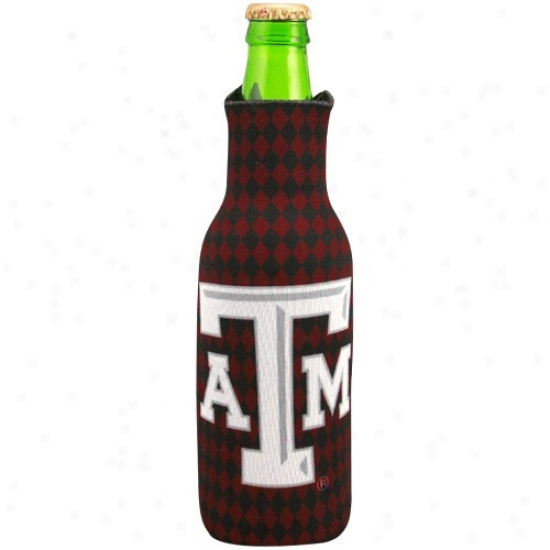 Texas A&m Aggies Argyle Collapsible 12 Oz. Bottle Coolie