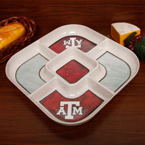 Texas A&m Aggies Ecobamboo 5-section Serving Tray