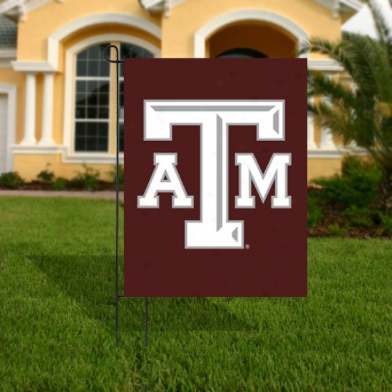 Texas A&m Aggies Maroon Applique Garden Flag