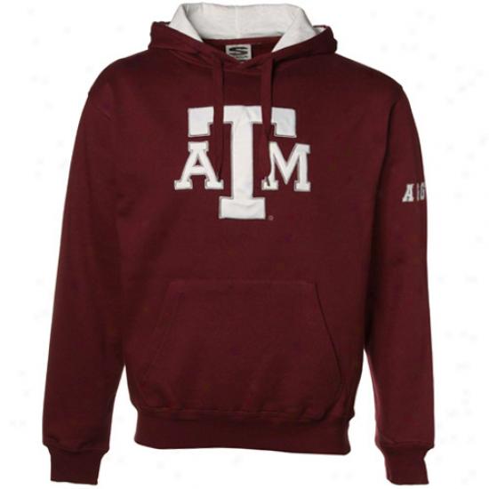 Texqs A&m Aggies Maroon Classic Twill Hoody Sweatshirt
