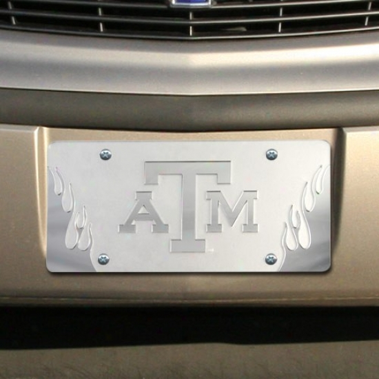 Texas A&m Aggies Satin Mirrored Glow License Plate