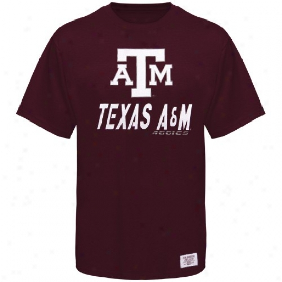 Texas A&m Aggiew Shirt : Texas A&m Aggies Young men Maroon Arrowhead Shirt