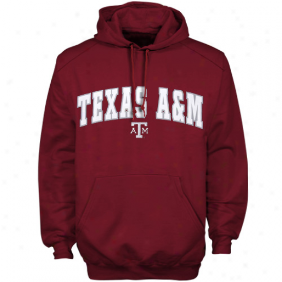 Texas A&m Aggies Sweat Shirt : Texas A&m Aggies Maroon Player Pro Arch Sweat Shirt