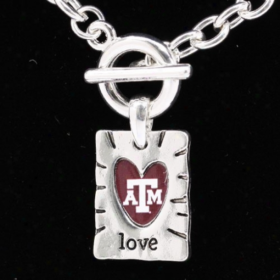 Texas A&m Aggies Team Color Love Necklace